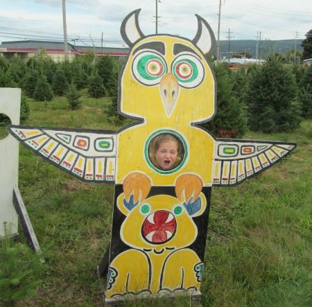 Scary owl totem.